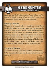 Gaining Grounds 2015 Strategy Card - Headhunter